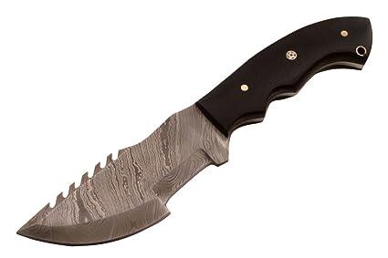 Amazon.com: nes-col-10 hecho a mano damasco knife-tracker ...