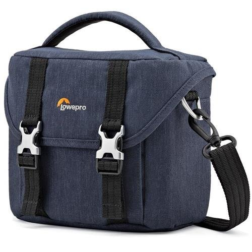 Lowepro Scout SH 120 Shoulder Bag for Mirrorless Camera with Lens, Extra Lens and Smartphone, Slate Blue (Bag Camera Lowepro)