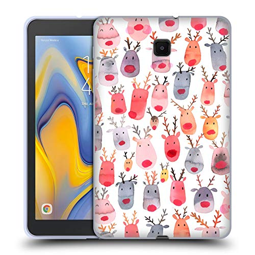 - Official Ninola Cute Reindeer Watercolour Patterns 2 Soft Gel Case Compatible for Galaxy Tab A 8.0 (2018)