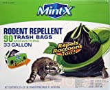 Mint-X Scented Outdoor Bags, Repels Rodents, 33 Gallon, 90 Count