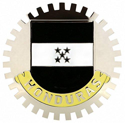 Flag Honduras Car (FLAG OF HONDURAS-CAR GRILLE EMBLEM BADGES)