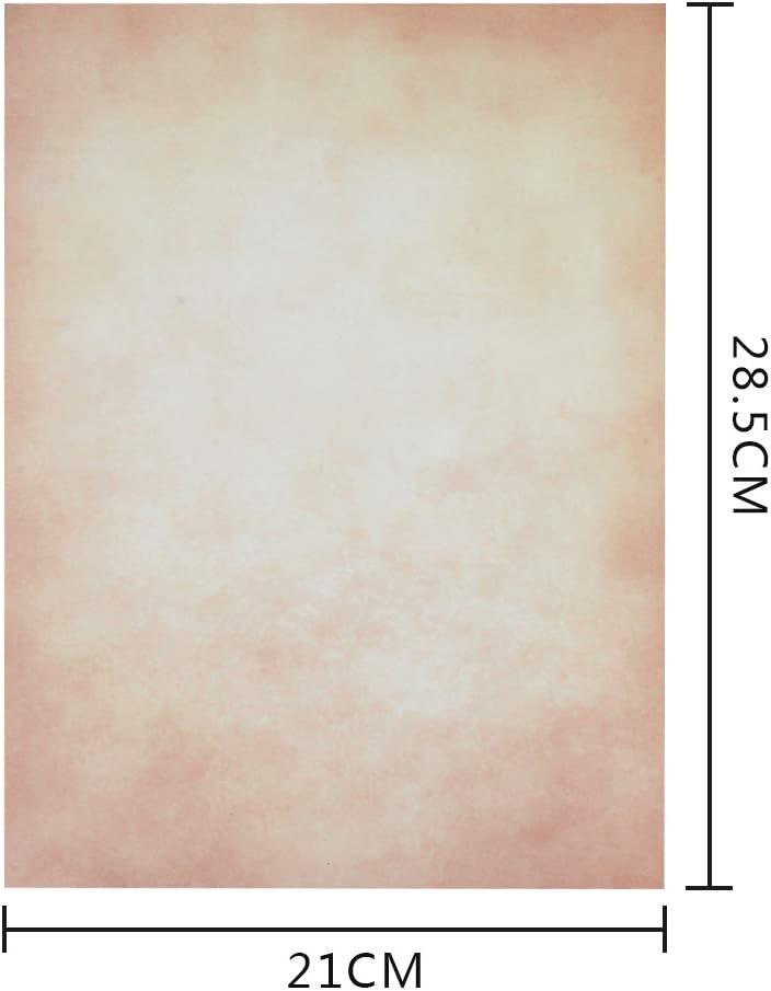 Qlouni 50 Blatt Briefpapier Vintage DIN A4 beideseitig bedrucktes Motivbriefpapier 28.5x21 cm Retro Briefpapier 100g Schreibpapier Set im hochwertigen Stil f/ür Drucker