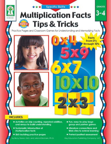 Multiplication Facts Tips and Tricks Grades 3  4: Practice Pages and Classroom Games for Understanding and Memorizing Facts