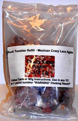 Amazon Rock Tumbler Gem Refill Kit Mexican Crazy Lace Agate