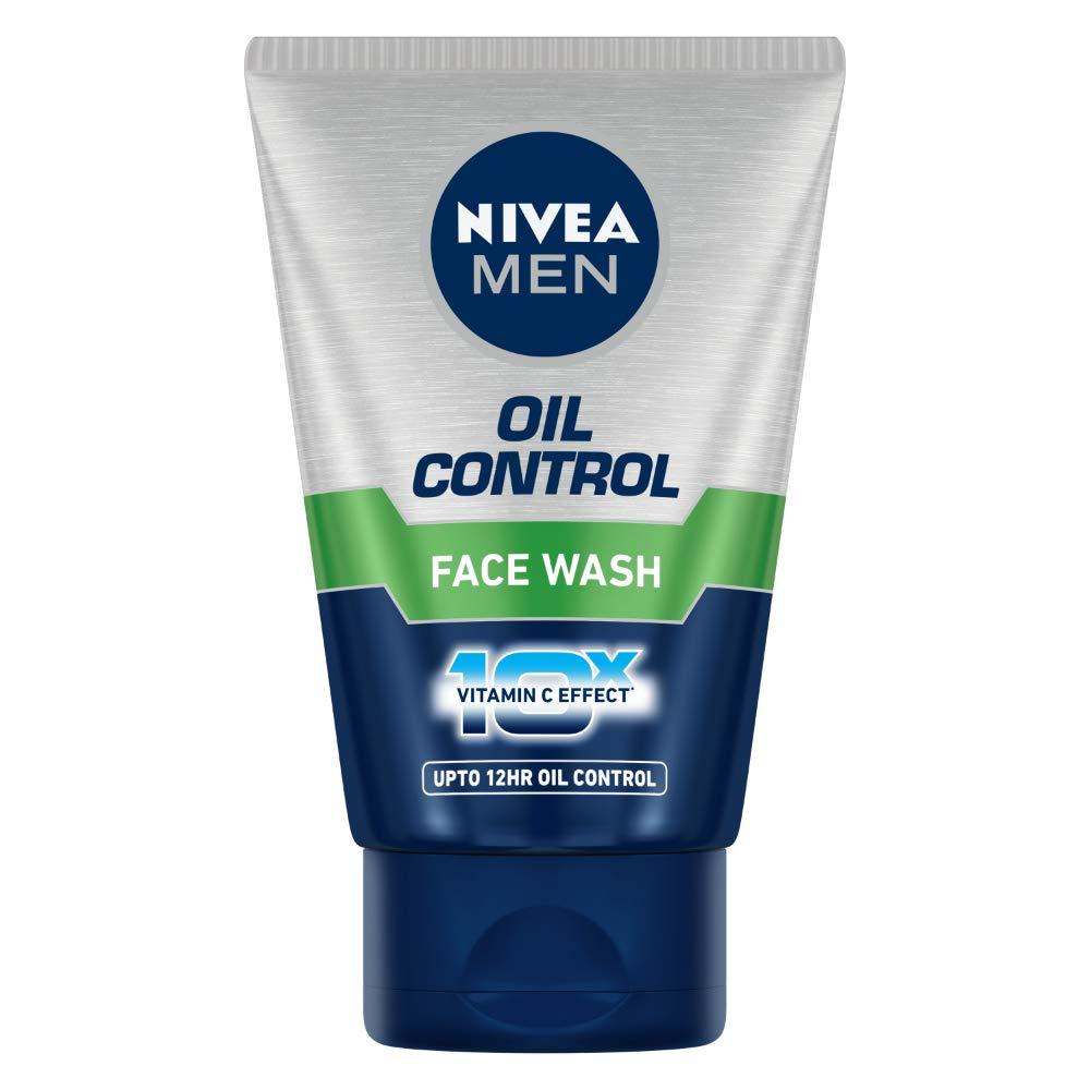 Nivea Men Oil Control Face Wash (10X Whitening), 100Gm 100Ml