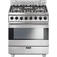 Smeg C30GGXU1 30 Free Standing Gas Range with 5 Gas Burners and 3 Cooking Modes, Stainless Steel