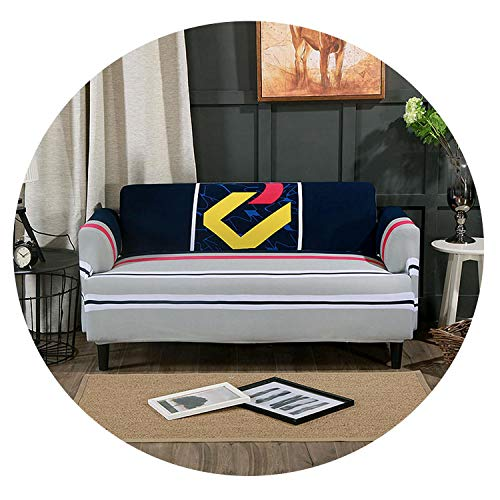 gUTeresaSassoon 20 Styles Bloom Flower Stretch Sofa Protector Cover for Living Room Sofa Slipcovers Sectional L Shape Sofacover 1/2/3/4 Seater,2,3 seat (And Toronto A Half Chair)