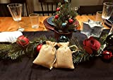 YUXIER 50 Burlap Bags with Drawstring Favor Bags