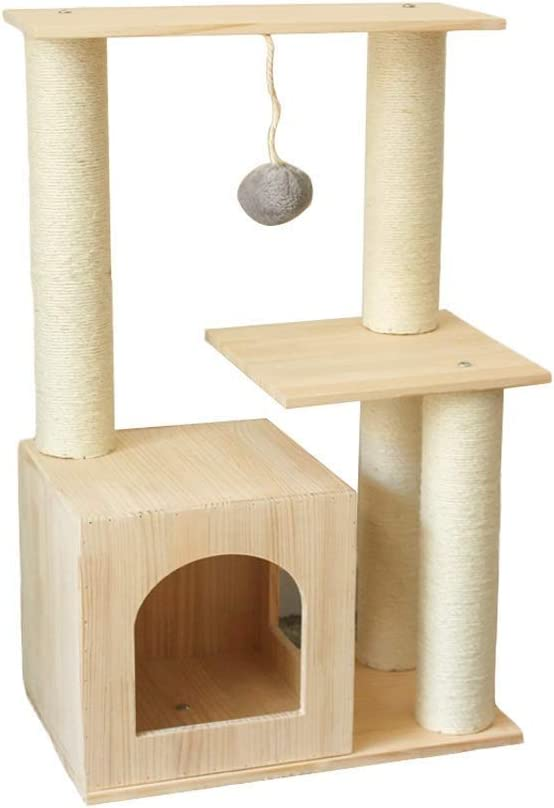 掻くかゆみポスト猫ツリー猫掻くボード純木登り猫フレーム猫の家のおもちゃ50 * 30 * 80センチ用複数の猫グループ