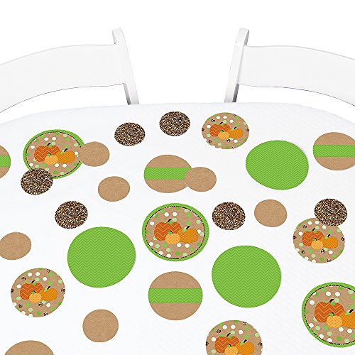 Big Dot of Happiness Pumpkin Patch - Fall & Thanksgiving Party Giant Circle Confetti - Fall and Halloween Party Decorations - Large Confetti 27 (Creative Ideas For Halloween Pumpkins)