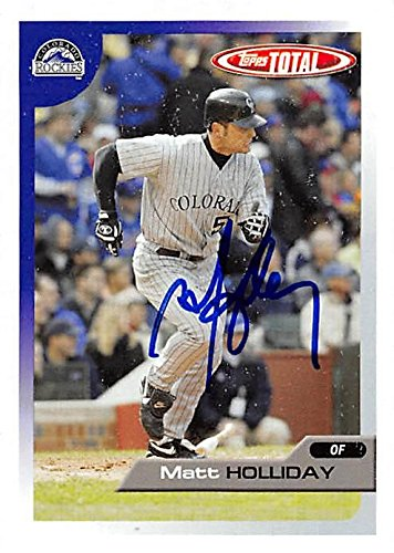 Matt Holliday autographed baseball card (Colorado Rockies, FT) 2005 Topps Total #96 - Baseball Slabbed Autographed (Matt Holliday Autographed Baseball)