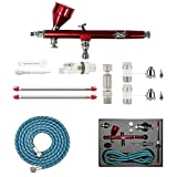 HUBEST New Professional 0.2mm.3mm.5mm Dual Action Airbrush Kit Spray Paint Gun Kit Complete Set for General-Purpose Art-and-Craft Projects Model-Railroad Detailing R/C Kits
