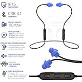 Snug Phones wireless silicon BLUETOOTH ear plug headphones. Noise cancelling IPX6 waterproof heavy duty cord noise isolating ear buds. Motorcycle Workouts and high movement acitivities