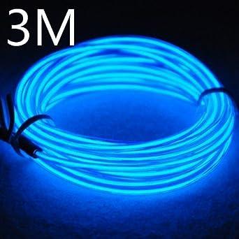 Efrank 3M EL Wire EL Kabel Neon Beleuchtung leuchtschnur für ...