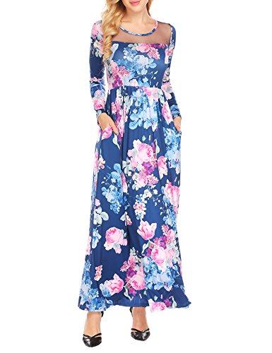 Blue Dress Casual 3 Print T UNibelle Shirt Navy Batwing Asymmetric Shift Sleeve Women's qwzFzPSR