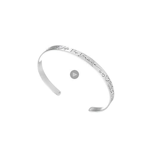 30off Sterling Silver Love Life Be Brave Cuff Bracelet 6