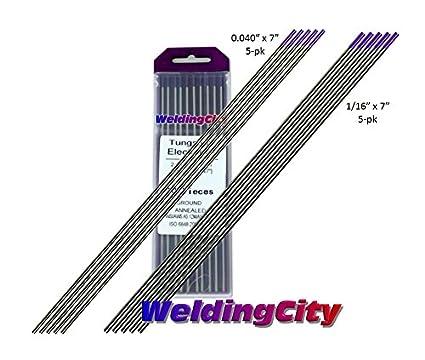 0.040 X 7 0.040 Diameter and 7 Length WeldingCity 10-pk TIG Welding Tungsten Electrode Rod Lanthanated 1.5/% Gold 10-pcs//box