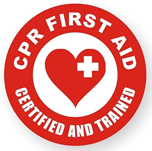 1 Pcs First-class Popular CPR First Aid Certified And Trained Vinyl Sticker Sign Electrical Arc Flash Hard Hat Decals Size 2
