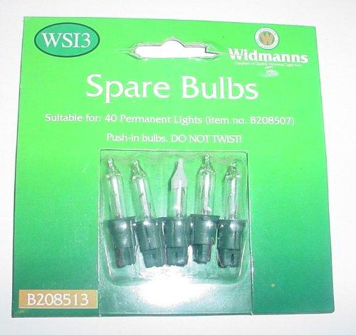 4 Clear Push In Spare Bulbs 6v 0.1a & 1 Fuse Bulb 6v 0.09a (SB18/277)