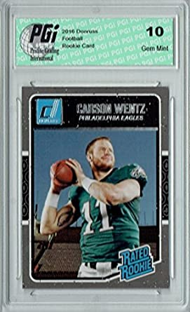 Carson Wentz 2016 Donruss Rated Rookie 356 Sp Rookie Card Pgi 10
