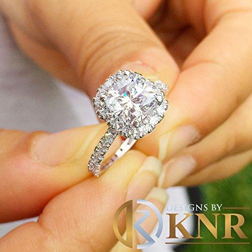 14K White Gold Round Cut Simulated Diamond Engagement Ring Braided Bezel Art Deco 0.35ctw