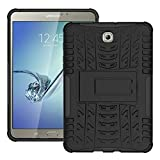 FALIANG Samsung GalaxyTab S2 T710(8 inch) Case, Dual Layer Armor Combo Shockproof Heavy Duty Shield Hard Case Cover for Samsung GalaxyTab S2 T710(8 inch) (Black)