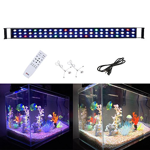 BEAMNOVA LED Aquarium Lights Hood Lighting Dimmable Remote Controlled Fish Tank Light for Freshwater and Saltwater, Size 47 to 55 Inch by BEAMNOVA