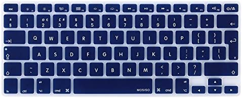with//without Retina Display, 2015 or Older Version Black MOSISO EU//UK Keyboard Cover Compatible MacBook Pro 13//15 Inch A1466 // A1369, Release 2010-2017 Older MacBook Air 13 Inch