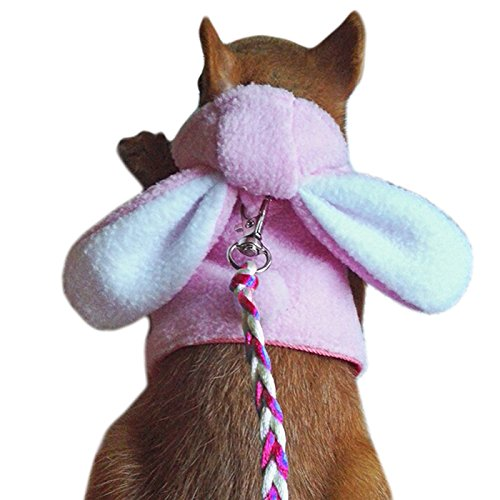 Alfie Pet by Petoga Couture - Fargo Harness and Leash Set for Small Animals like Mouse, Chinchilla, Rat, Gerbil and Dwarf Hamster - Color Pink ()