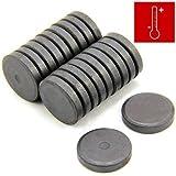 Magnet Expert Ltd - Confezione da 20 dischi magnetici in ferrite isotropa Y10, ø 2,5 cm, spessore 5 mm, forza magnetica 450 g, ideali da impiegare in lavori di arte e artigianato