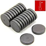 first4magnets 25 x 5mm 0.45kg Pull Isotropic Y10 Ferrite Disc Magnets for Arts and Crafts (Pack of 20)