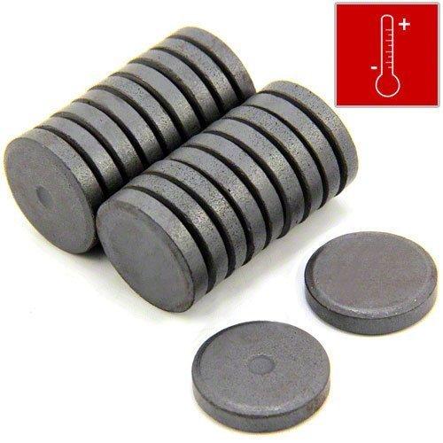 Magnet Expert Ltd Lot de 20 aimants en ferrite isotrope Y10 pour l'art et l'artisanat Force 0,45kg 25 x 5mm