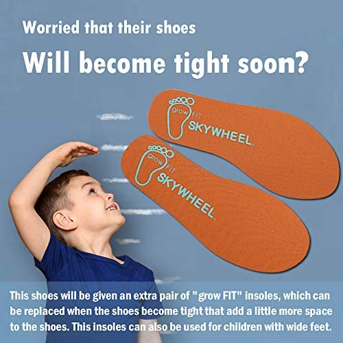 51QsVQfKv1L. AC SKYWHEEL Toddlers/Little Kids Cute/Cool Sequins/Bright Shoes Breathable Strap Athletic Running/Walking Sports Sneakers for Boys & Girls    【Skywheel Size Chart】 5 Toddler = US Size 5 = Insole Length 13.5 cm = Fit Foot Length 12.7 cm/ 5.0 in 6 Toddler = US Size 6 = Insole Length 14.5 cm = Fit Foot Length 13.5 cm/ 5.3 in 7 Toddler = US Size 7 = Insole Length 15.2 cm = Fit Foot Length 14.4 cm/ 5.7 in 8 Toddler = US Size 8 = Insole Length 16.1 cm = Fit Foot Length 15.2 cm/ 6.0 in 9 Toddler = US Size 9 = Insole Length 16.9 cm = Fit Foot Length 16.0 cm/ 6.3 in 10 Toddler = US Size 10 = Insole Length 17.7 cm = Fit Foot Length 16.9 cm/ 6.7 in 11 Little Kid = US Size 11 = Insole Length 18.6 cm = Fit Foot Length 17.7 cm/ 7.0 in 12 Little Kid = US Size 12 = Insole Length 19.4 cm = Fit Foot Length 18.6 cm/ 7.3 in 13 Little Kid = US Size 13 = Insole Length 20.2 cm = Fit Foot Length 19.2 cm/ 7.6 in 1 Big Kid = US Size 1 = Insole Length 21.0 cm = Fit Foot Length 20.0 cm/ 7.9 in 2 Big Kid = US Size 2 = Insole Length 21.8 cm = Fit Foot Length 20.8 cm/ 8.2 in 3 Big Kid = US Size 3 = Insole Length 22.7 cm = Fit Foot Length 21.7 cm/ 8.5 in 4 Big Kid = US Size 4 = Insole Length 23.6 cm = Fit Foot Length 22.5 cm/ 8.9 in 5 Big Kid = US Size 5 = Insole Length 24.4 cm = Fit Foot Length 23.4 cm/ 9.2 in MD sole⚾ BREATHABLE MESH UPPER: Knitted mesh fabric upper offers lightweight breathability, keeps feet dry and comfortable. Nearly one piece textured breathable mesh upper. These kids sneakers with good stretch upper allow the foot to secure fit, breathable and lightweight fabric keeps your feet dry and comfortable.⚾ CLASSICAL ERGONOMIC DESIGN: The crash-proof toe and wrap-around heel protect children's feet in all directions, providing steady support for the heel and ankle when they wear our boy's sneakers. Flexible traction MD outsole, while a durable outsole means these sneakers will support everyday wear and tear.⚾ LIGHTWEIGHT MATERIAL: Superlight EVA outsole is 20% lighter