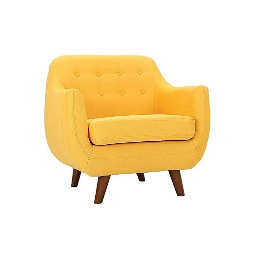 Miliboo - Sillón diseño Amarillo YNOK: Amazon.es: Hogar