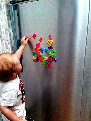 33PCS Fridge Magnets - Russian Alphabet Letters - Baby Educational - Learning Toy - Home Decor - Refrigerator Message Board (3.5x3.7cm)
