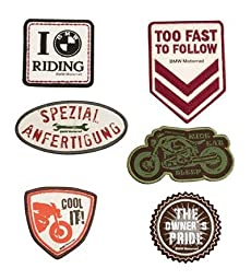 BMW Genuine Motorcycle Riding Vintage Patch Set Universal Various