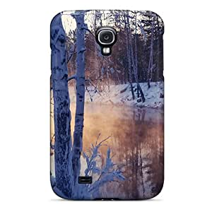 First-class Case Cover For Galaxy S4 Dual Protection Cover Snowy Winter Lscape