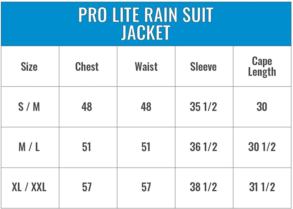 Frogg Toggs Pro Lite Water-Resistant Rain Suit