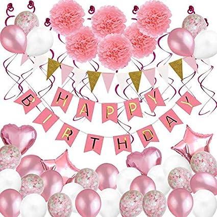 Artículos de fiesta de cumpleaños Deco, Happy Birthday ...