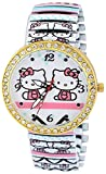 Pappi Boss Unique Designer Stone Studded Cute Teddy Hello Kitty Stretchable Bracelet Band Analog Watch for Girls, Women