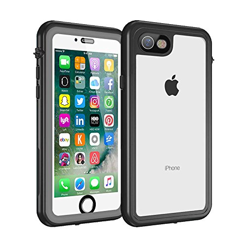 Waterproof Case for iPhone 7 & 8 with Built-in Clear Screen Protector, Drop Resistant Full Sealed Underwater Protective Cover, Dirtproof Snowproof Shockproof for Men Women Boys and Girls