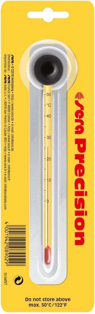 sera 08902 - Termometro di precisione per acquario, in vetro ad alta precisione, scala da 0 a 50 °C