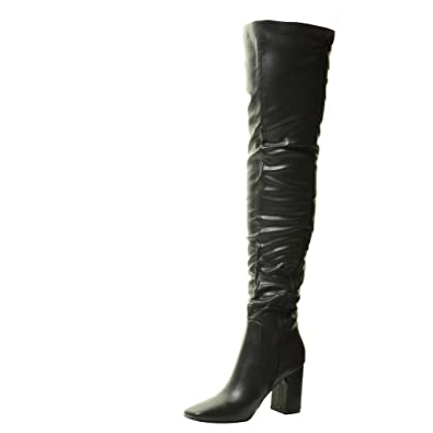 40a0f1e2981 Tilly London New Ladies Womens Over The Knee Thigh High Heel Sexy Stretch  Black Long Boots Size 3 4 5 6 7 8  Amazon.co.uk  Shoes   Bags