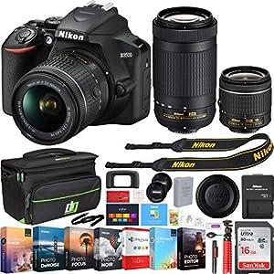51QsXX45dPL. SS300  - Nikon D3500 24.2MP DSLR Camera w/AF-P 18-55mm VR Lens & 70-300mm Dual Zoom Lens - (Renewed) + 16GB Bundle