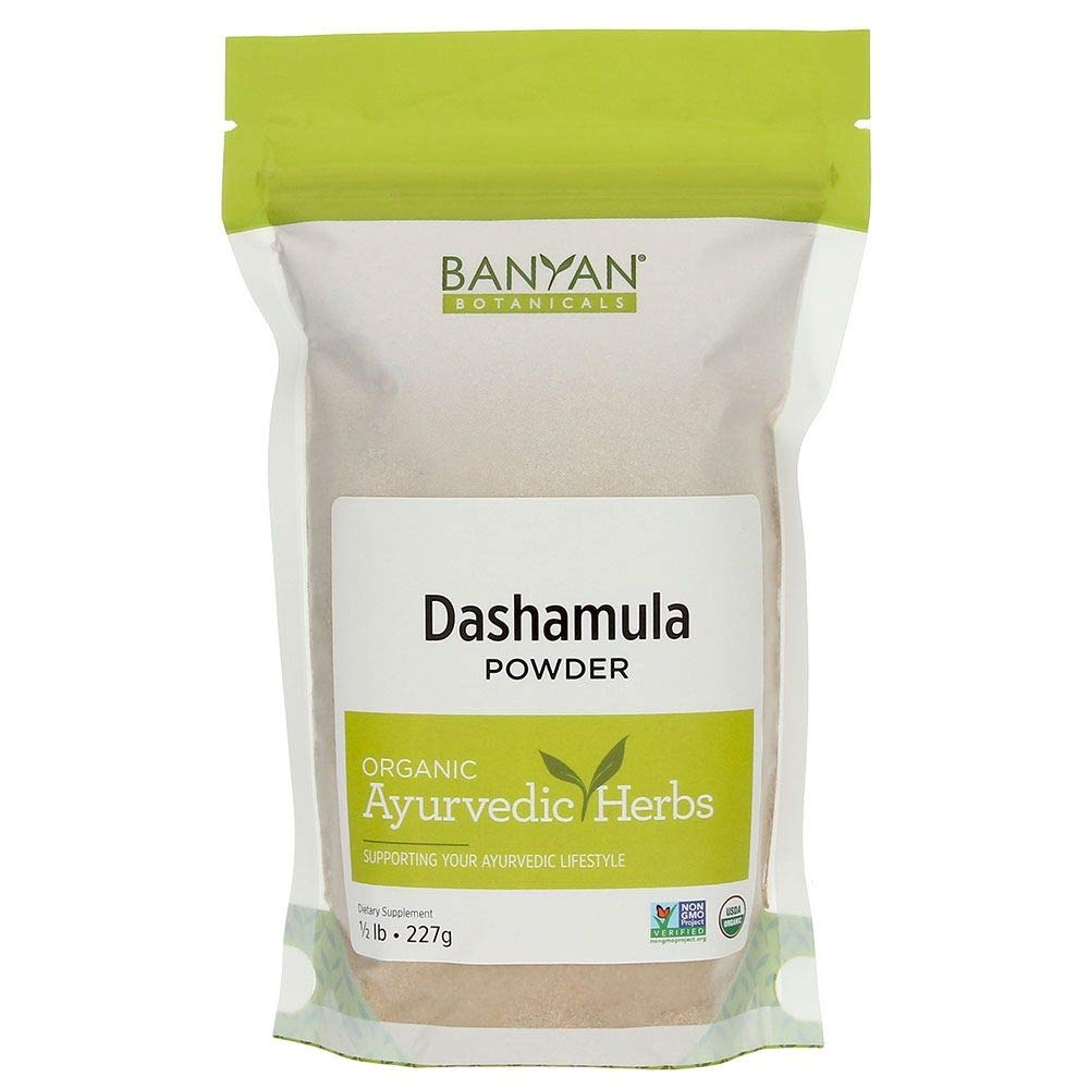 Banyan Botanicals Dashamula Powder - Certified Organic, 1/2 Pound - A traditional Ayurvedic formula for pacifying vata and supporting proper function of the nervous system* by Banyan Botanicals