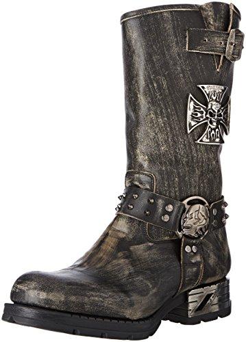 Mr030 Black New Stiefel Motorradstiefel Rock Overknee Black Schwarz Black Herren M S2 qw16WtHw