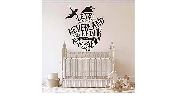 juntop Peter Pan Let go to Neverland Cita Tatuajes de Pared ...