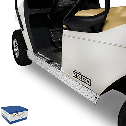 RecPro EZGO TXT Golf Cart Diamond Plate Full Rocker Panels Polished (Polished Aluminum Golf)