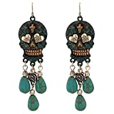 Search : Turquoise Dangling Sugar Skull (Patina)