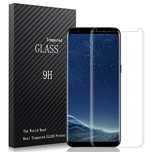 Samsung Galaxy S8 Screen Protector,Airsspu Tempered Glass 3D Touch Compatible,9H Hardness,Bubble (1Pack)